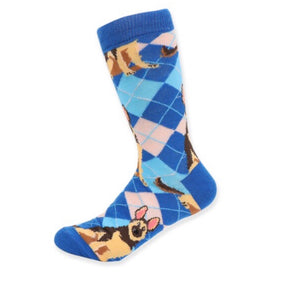 PARQUET BRAND Ladies GERMAN SHEPHERD Dog - Novelty Socks for Less