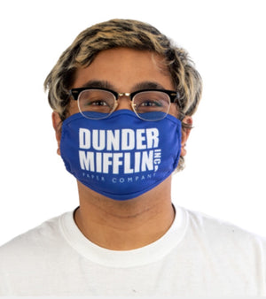 THE OFFICE ADULT FACE MASK/COVER 'DUNDER MIFFLIN' BIOWORLD BRAND