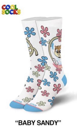 COOL SOCKS Ladies SPONGEBOB BABY SANDY Socks - Novelty Socks for Less