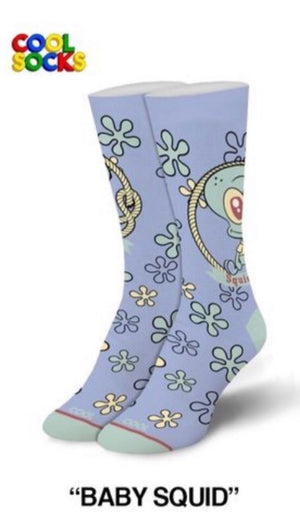 COOL SOCKS Ladies Spongebob BABY SQUIDWARD - Novelty Socks for Less