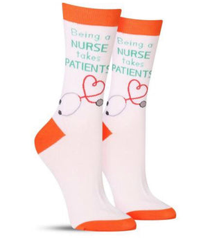 FOOT TRAFFIC Ladies NURSE Socks - Novelty Socks for Less
