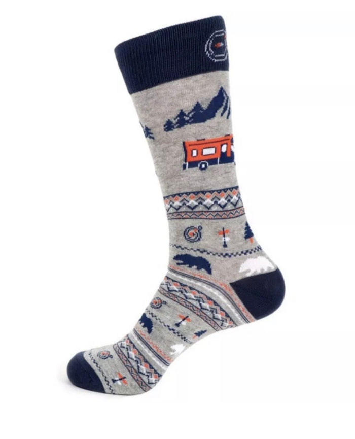 PARQUET BRAND Mens ROAD TRIP Socks
