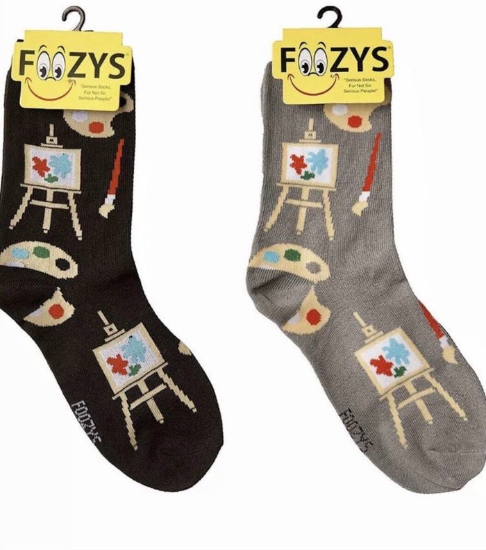 FOOZYS Ladies 2 Pair ARTIST/EASEL Socks