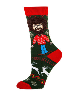 OOOH YEAH BOB ROSS Ladies XMAS - Novelty Socks for Less