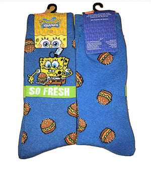 SPONGEBOB SQUAREPANTS Mens KRABBY PATTIES 'SO FRESH'