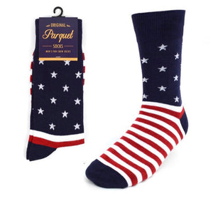 Parquet Brand Men's Socks AMERICAN FLAG - Novelty Socks for Less