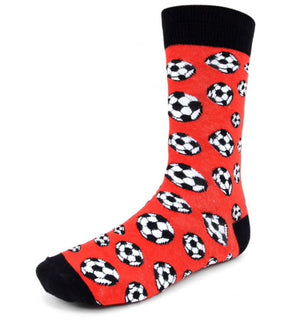 PARQUET BRAND Men's SOCCER BALL Socks - Novelty Socks for Less