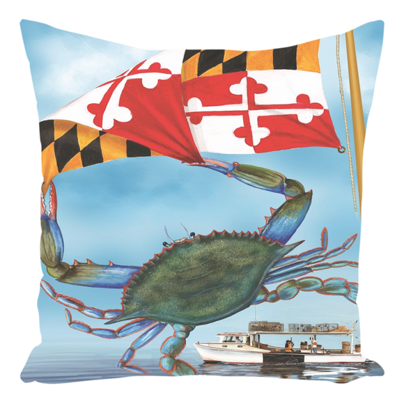 Throw Pillow with Mary Lou Troutman Artwork