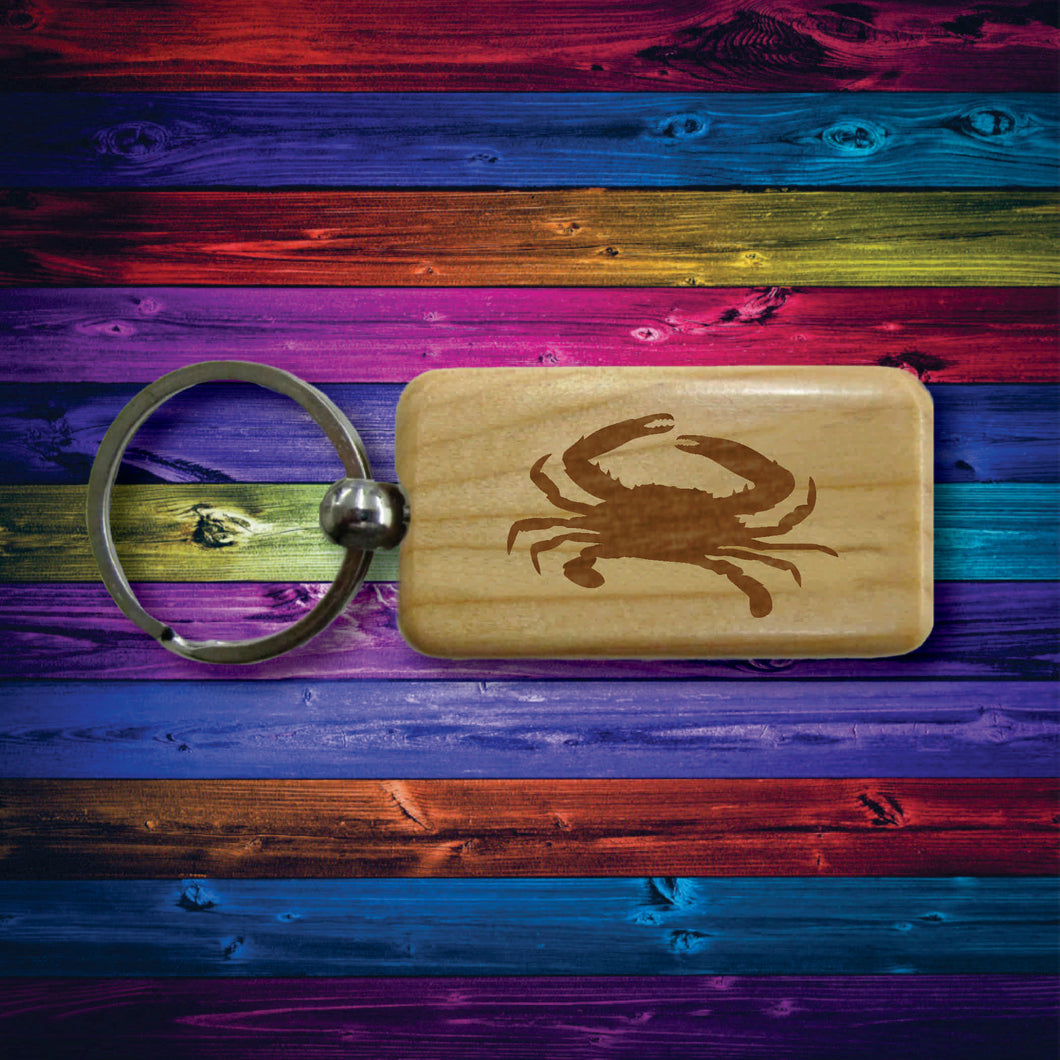 Wooden Sealife Keychains Beautifully Laser Engraved