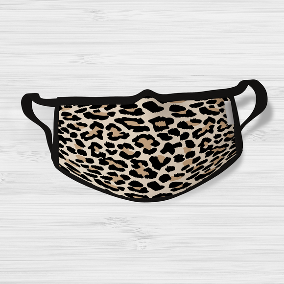 Leopard Print Face Mask | Lined Layered Reusable Cotton