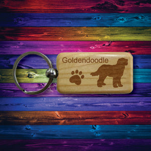 Wooden Dog Keychains Beautifully Laser Engraved