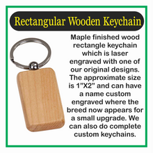 Load image into Gallery viewer, Wooden Keychain Anchor Laser Engraved