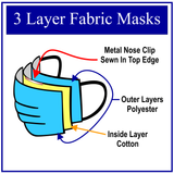 Waves Face Mask | Lined Layered Reusable Cotton