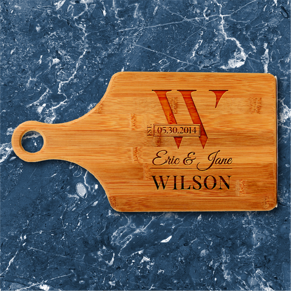 Paddle-Shaped Bamboo Serving Board