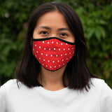 Red Polka Dot Face Mask | Lined Layered Reusable Cotton