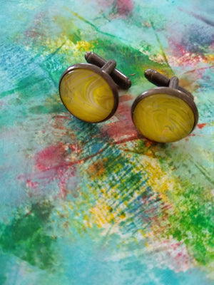 Cufflinks - Yellow