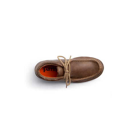 """Rogue"" Ladies Casual Lace Up Driving Moccasin - Chocolate Brown"