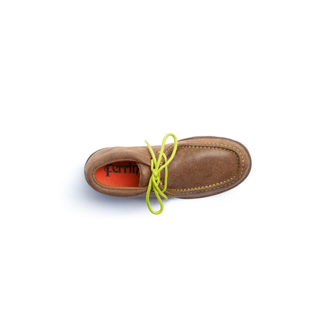"""Rogue"" Casual Lace Up Driving Moccasin - Mocha 