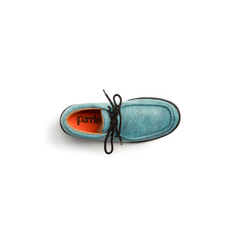 """Rogue"" Exotic Casual Lace Up Driving Moccasin - Turquoise"