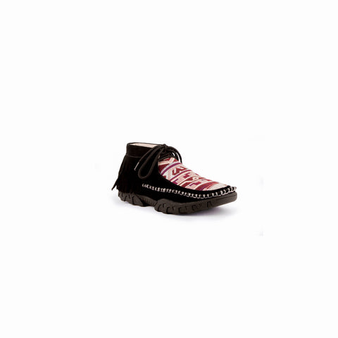 """Maya"" Ladies Black Suede Leather Moccasin 