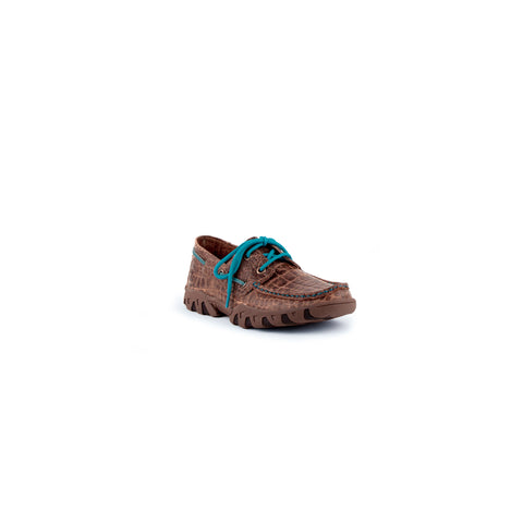 Classy Casual Comfortable Loafer with Turquoise Laces | Ferrini USA
