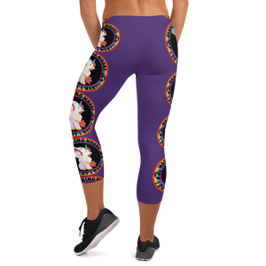Wandering Whore H3 - Purple Capri Leggings