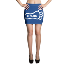 Load image into Gallery viewer, Blue / White On-On Hash Foot Women's Mini Skirt