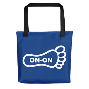 Blue / White On-On Hash Foot Tote / Hare Bag