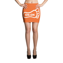 Load image into Gallery viewer, Orange / White On-On Hash Foot Women's Mini Skirt