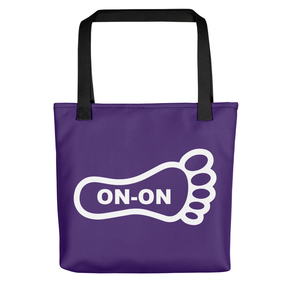 Purple / White On-On Hash Foot Tote / Hare Bag