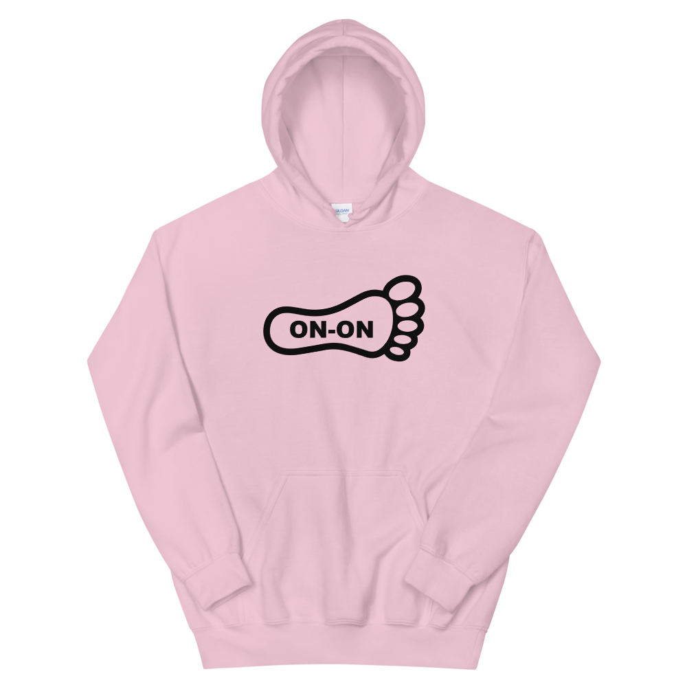 Pink Hash Foot On-On Logo Unisex Hoodie - (Personalization available if contacted prior to order)