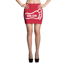 Load image into Gallery viewer, Red / White On-On Hash Foot Women's Mini Skirt