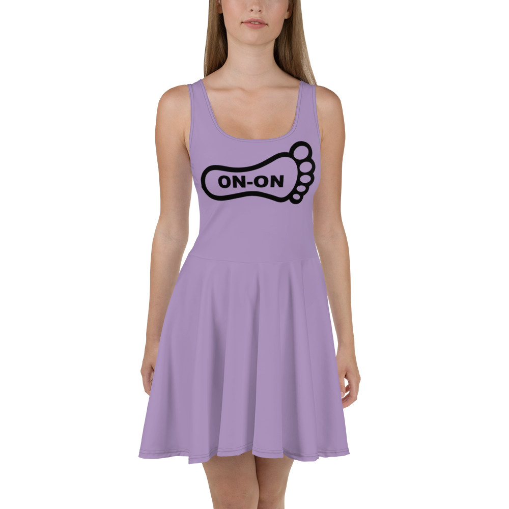 Purple Dress On-On Hash Foot Logo (Can be personalized. Contact prior to ordering)