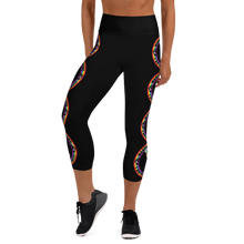 Load image into Gallery viewer, Wandering Whore H3 - Black Yoga Capri Leggings with Small Waist Band Inside Pocket