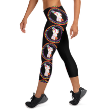 Load image into Gallery viewer, Wandering Whore H3 - Black Capri Leggings
