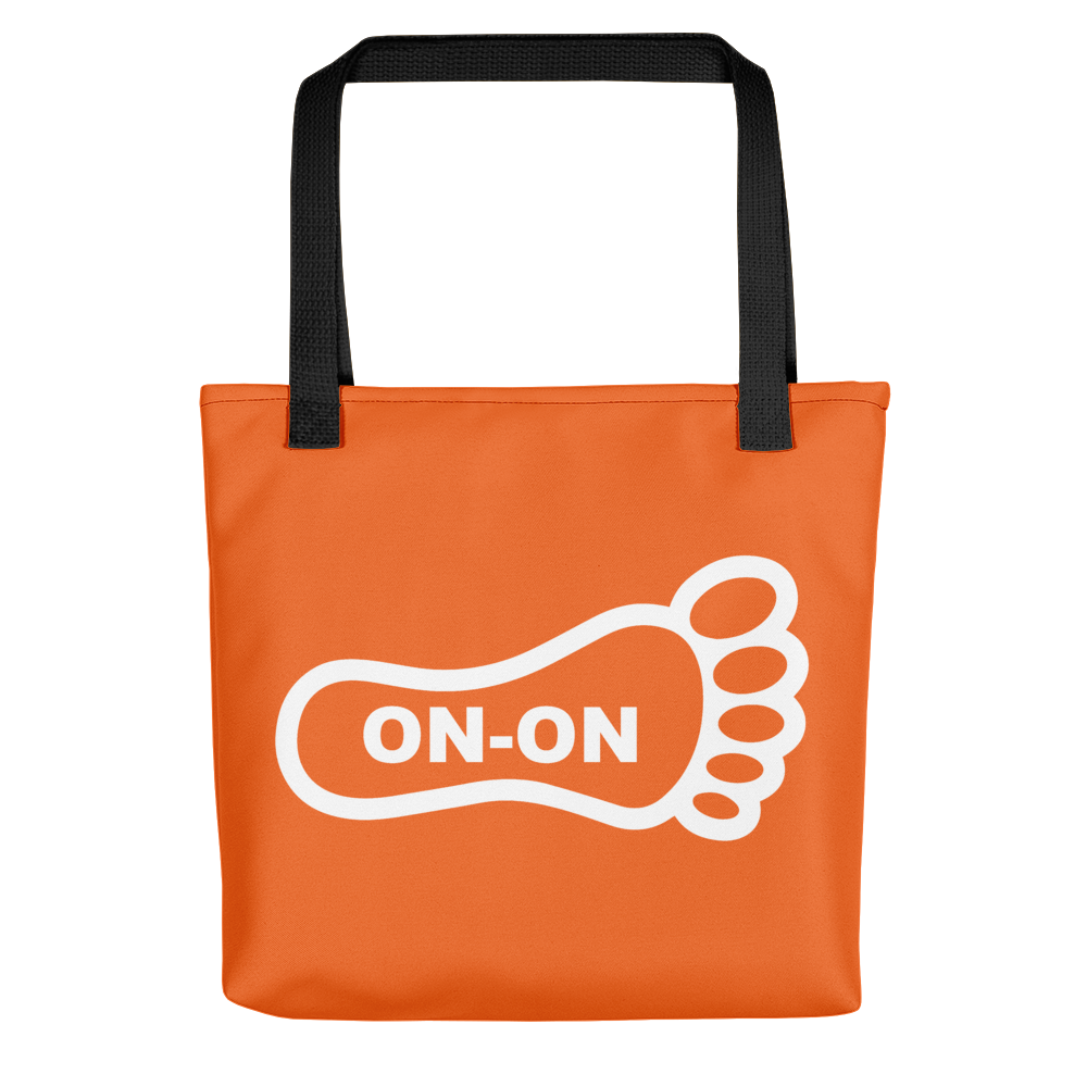 Orange / White On-On Hash Foot Tote / Hare Bag