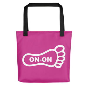 Pink / White On-On Hash Foot Tote / Hare Bag