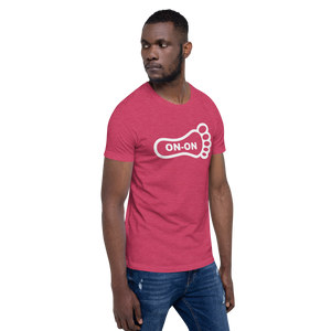 Pink Hash Foot On-On Logo Unisex Short-Sleeve T-Shirt - (Personalization available if contacted prior to order)