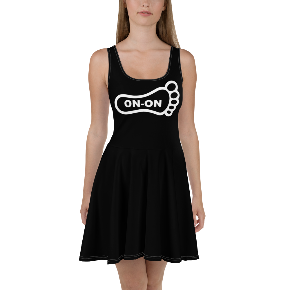 Black Dress On-On Hash Foot Logo (Can be personalized. Contact prior to ordering)