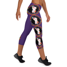 Load image into Gallery viewer, Wandering Whore H3 - Purple Capri Leggings