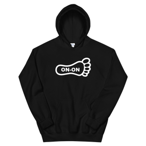 Black Hash Foot On-On Logo Unisex Hoodie - (Personalization available if contacted prior to order)