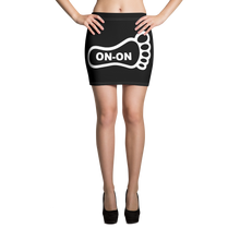 Load image into Gallery viewer, Black / White On-On Hash Foot Women's Mini Skirt