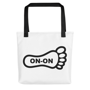 White / Black On-On Hash Foot Tote / Hare Bag