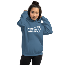 Load image into Gallery viewer, Blue Hash Foot On-On Logo Unisex Hoodie - (Personalization available if contacted prior to order)