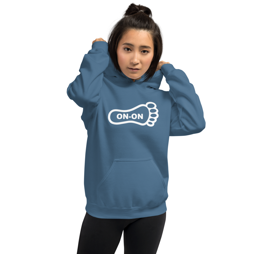 Blue Hash Foot On-On Logo Unisex Hoodie - (Personalization available if contacted prior to order)