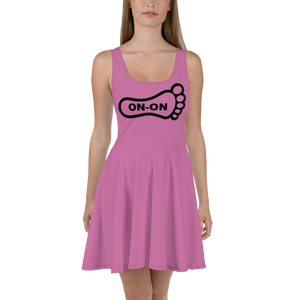 Pink Dress On-On Hash Foot Logo (Can be personalized. Contact prior to ordering)