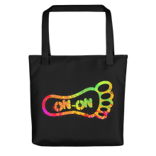 Load image into Gallery viewer, Neon Splatter On-On Hash Foot Tote / Hare Bag