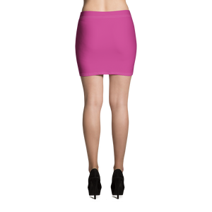 Pink / White On-On Hash Foot Women's Mini Skirt