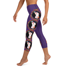 Load image into Gallery viewer, Wandering Whore H3 - Purple Yoga Capri Leggings with Small Waist Band Pocket
