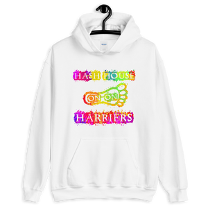Hash House Harriers Neon Paint Splatter Unisex Hoodie